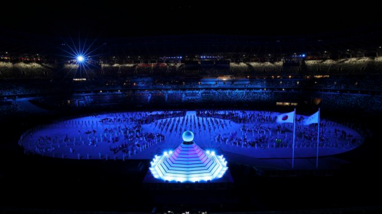 Team India at the Olympic Games on Opening Ceremony Day